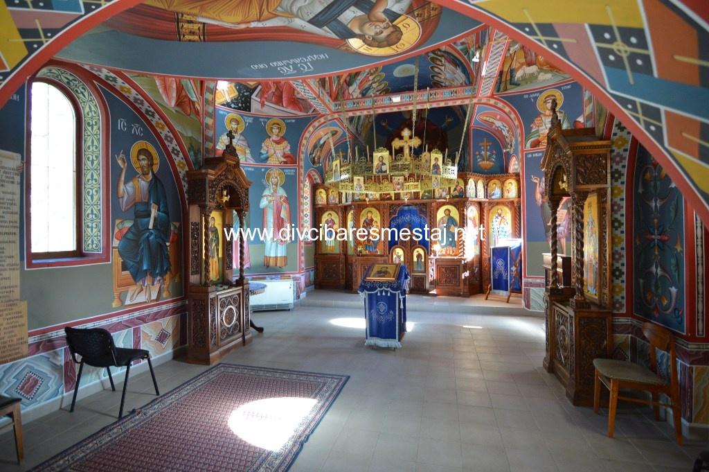 Unutrašnjost crkve na Divčibarama